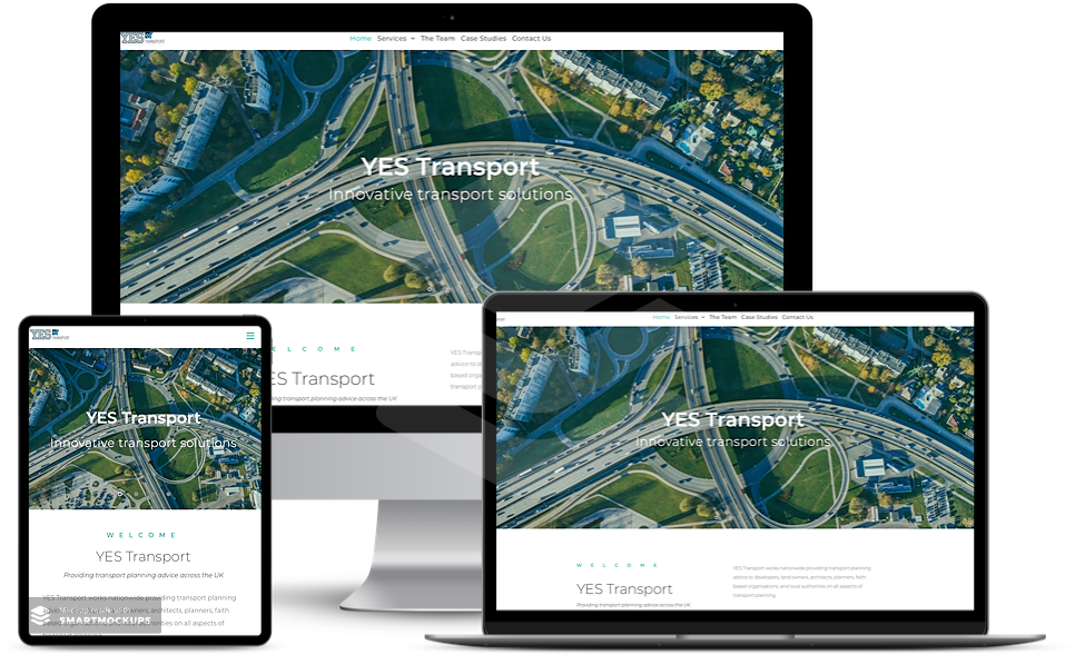 web design surrey affordable yes transport website on 3 different screens