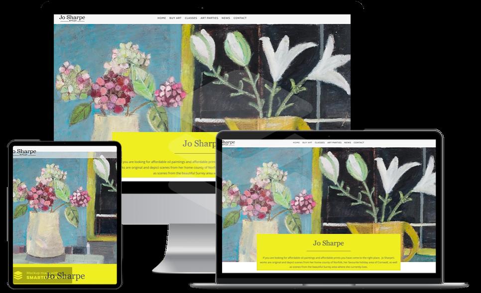 web design surrey affordable jo sharpes website on three screens