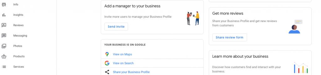 google my business short url