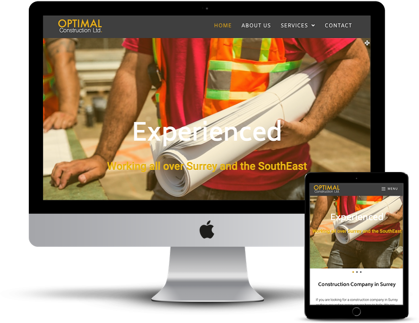 construction company website responsive design