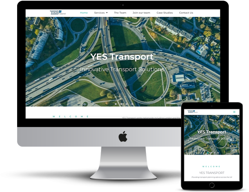 Surrey Web Stusio - responsive web design of yes transports website