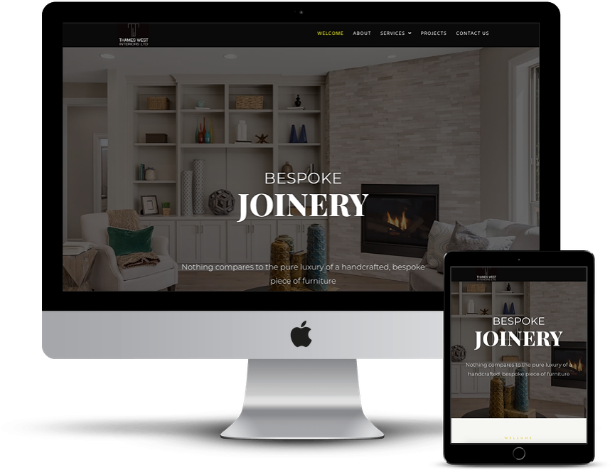 screen shot of a joinery website