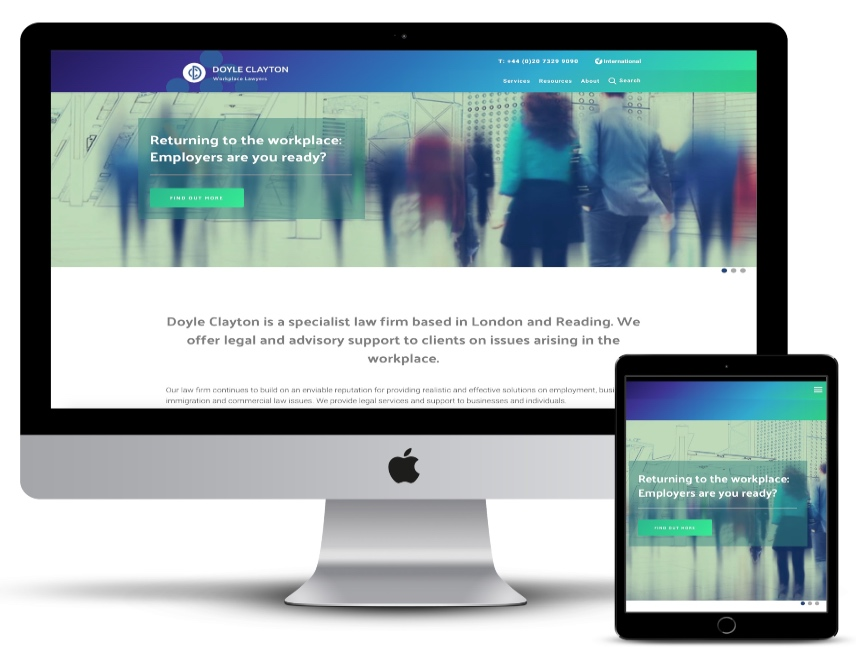 responsive view of a website